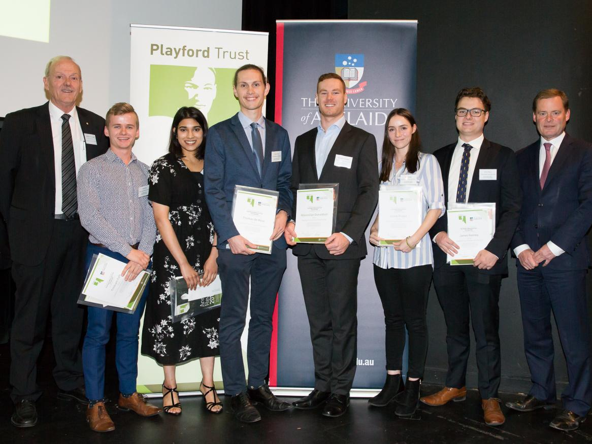Playford Trust Scholarship Award winners