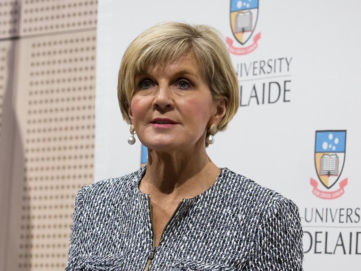 Hon Julie Bishop at the Sir John Downer Oration