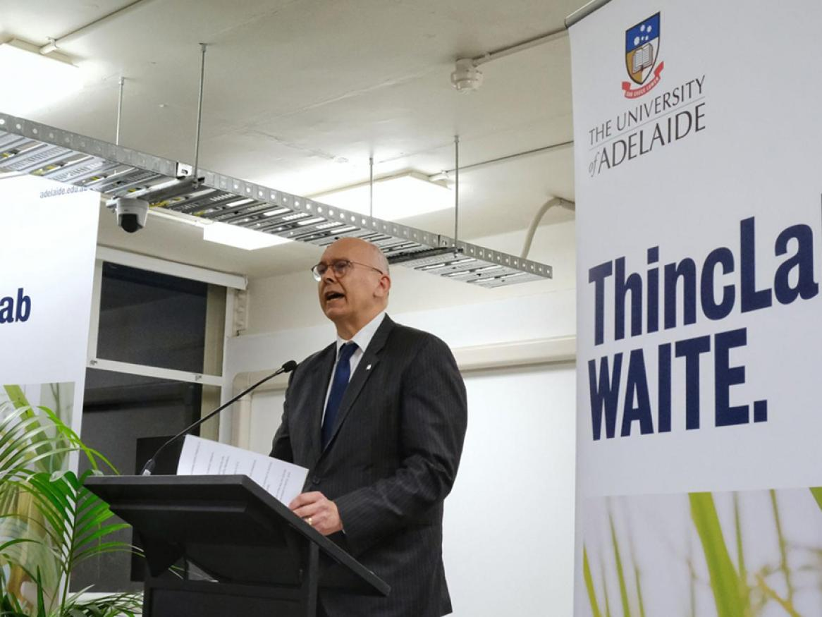 For Engagement eNews October 2019, photo of Hon David Pisoni MP at the launch of ThincLab Waite