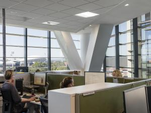 AHMS office with view of Adelaide Oval