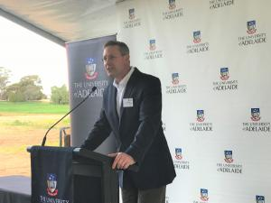 Environment Minister at Roseworthy solar farm launch event