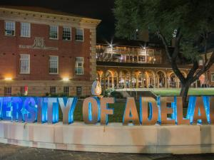 University of Adelaide sign on Western Drive