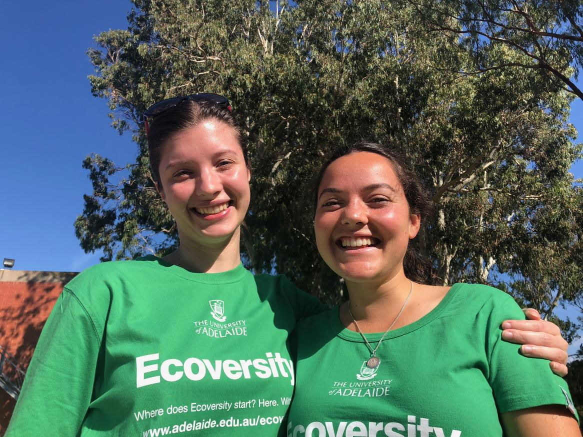Ecoversity interns Kat and Ella