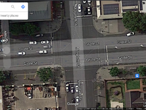 Intersection of Grote St and Morphett St