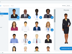 Articulate Storyline's character library