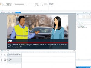Animating a conversation using Articulate Storyline