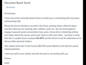 Discussion board - social