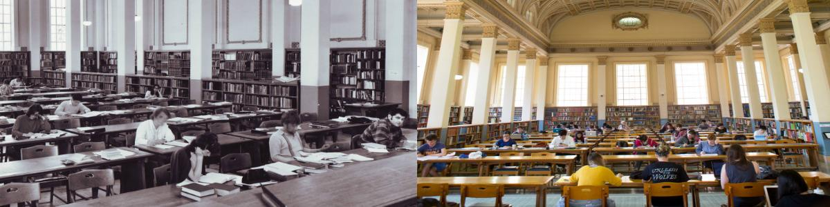 Reading Room 1972 and present
