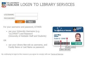Library services login