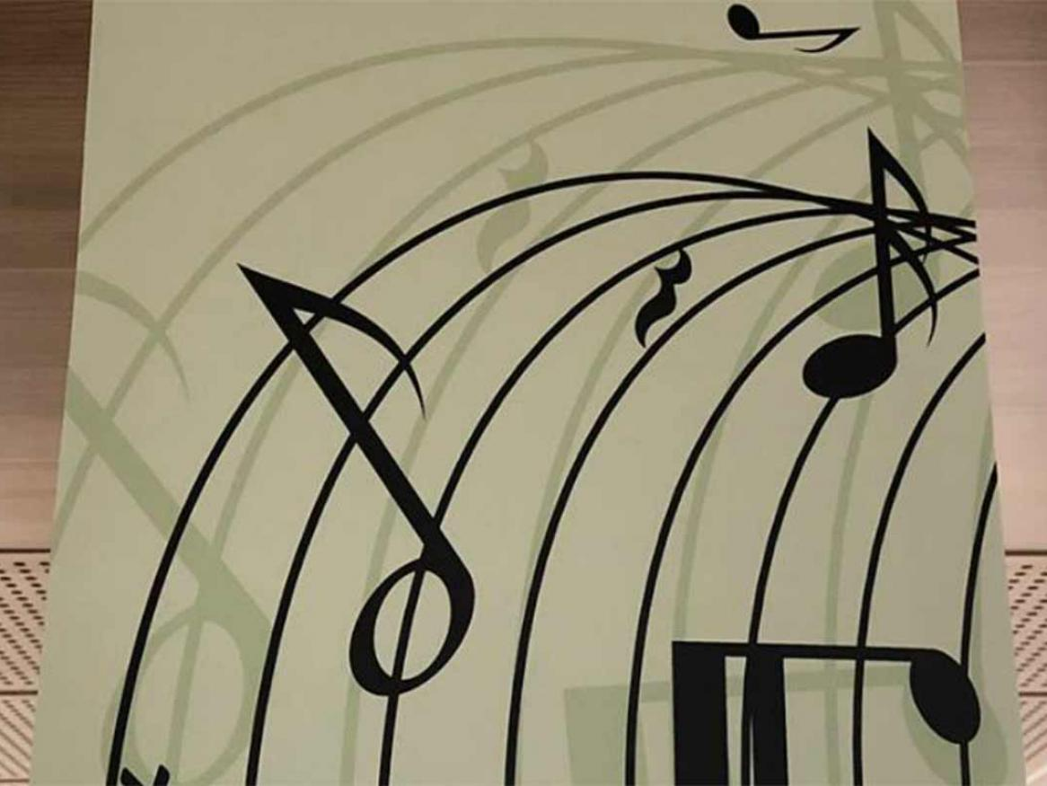 Music Collection - a stylised line of sheet music
