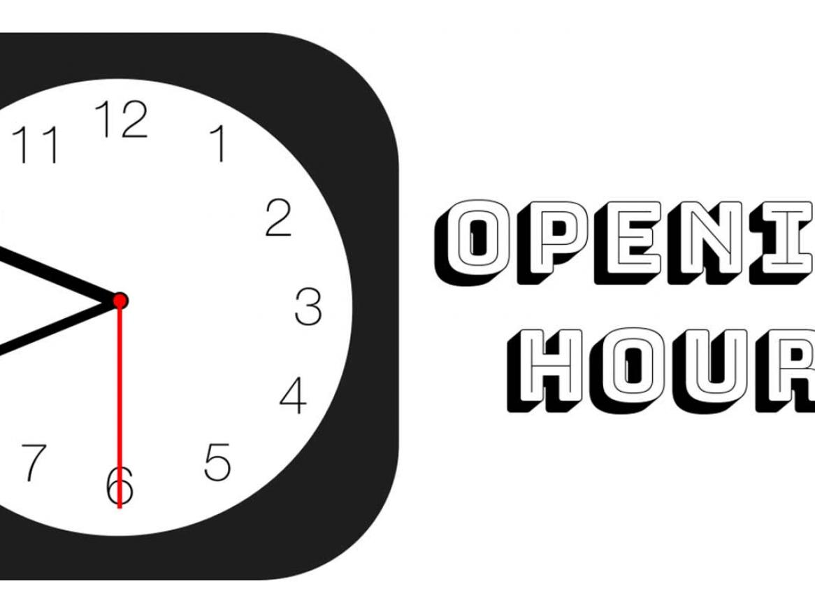 Opening hours clock