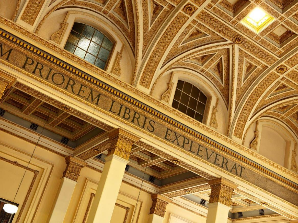 Photo of reading room ceiling