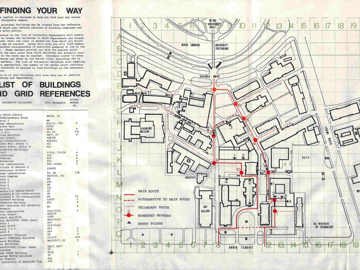 Photo of archival University map
