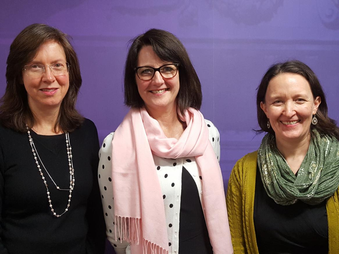 Photo of the University Librarian and the two Associate University Librarians
