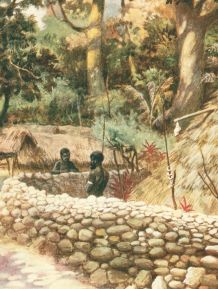 Chief's House - Ambryn - New Hebrides. Taken from Oceania by Frank Fox