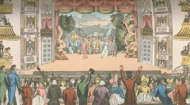 """Drury Lane Theatre"", taken from Biographica Dramatica by David Baker, Isaac Reed and Stephen Jones, 1812"