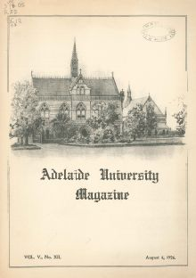 Adelaide University Magazine, Vol. 5, No. 12, 4th August 1926