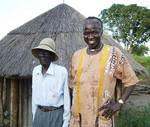 Ben in Limi village with an elder.