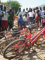 Bicycles donated from Adelaide residents.