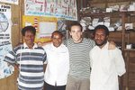 Adam Nelson, fifth-year student and AMSS President in 2006, pictured with Kompiam Hospital staff.