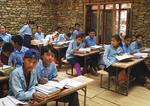Nepali students in their classroom.