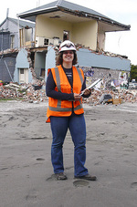 Civil and Structural Engineering PhD graduate Lisa Moon is assessing which buildings in Christchurch fared better when the earthquake struck.