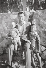Reuben Goldsworthy with sons  Jeff and Peter.