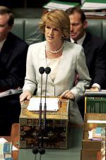 Julie Bishop in Parliament Photo courtesy of Ms Bishop's office