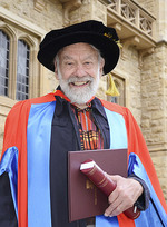 Above: Professor Alpers AO at Bonython Hall in September, where he received his honorary doctorate and gave the occasional address.