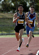 Student Andrew Giam competing in the 1600m relay at the University Games. Photo by Alvin Tan, courtesy of the AdelaideUniversity Photography Club.