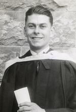 Norman Polglase at his 1947 graduation