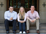 Left to right Matthew Morrison, Hannah Bobrowski andBen Howard. Photo by Matt Turner courtesy of <i>The Advertiser</i>