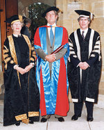 From left, Dame Roma Mitchell Dr Harry Medlin and Professor Kevin Marjoribanks.