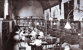 Library, 1906, originally housed in the Mitchell Building
