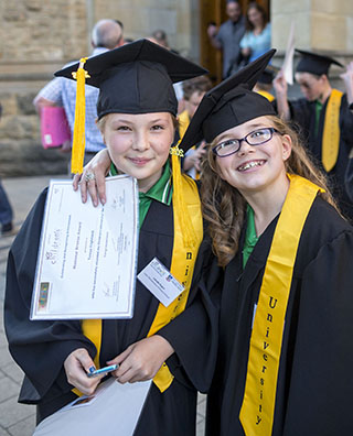 Children's University students at Bonython Hall for graduation