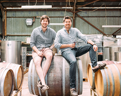 Damon Koerner with brother Jono, Koerner Wine