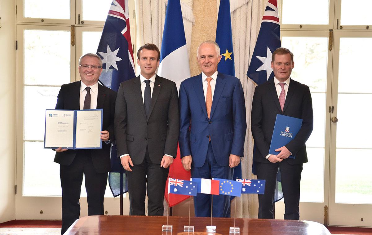 Pinot, Macron, Turnbull, Rathjen