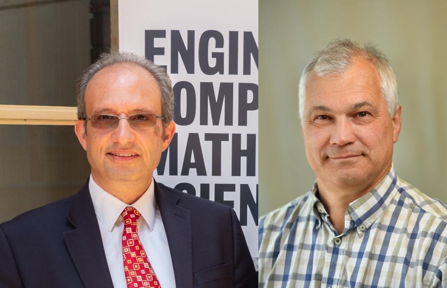Professor Derek Abbott (left) and Professor Nigel Spooner