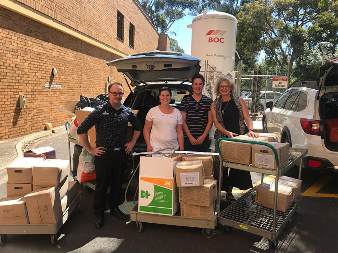Donations from St Andrew's Hospital Australian Bushfires