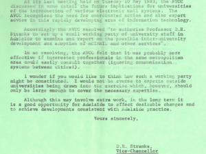 Memo regarding AVCC Request to form working party, 1983 (Ref:1982/2629)