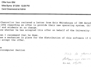 Examples of internal emails, 1994 (Ref: 1994/2436)