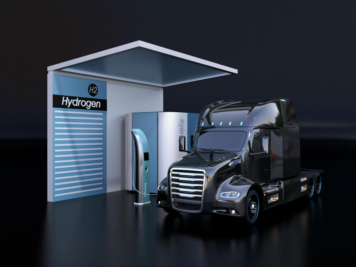 Hydrogen-powered truck