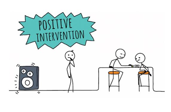Positive intervention cartoon