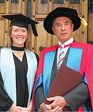 Bachelor of Laws graduate Hannah Doyle with her father Chief Justice John Doyle AC
