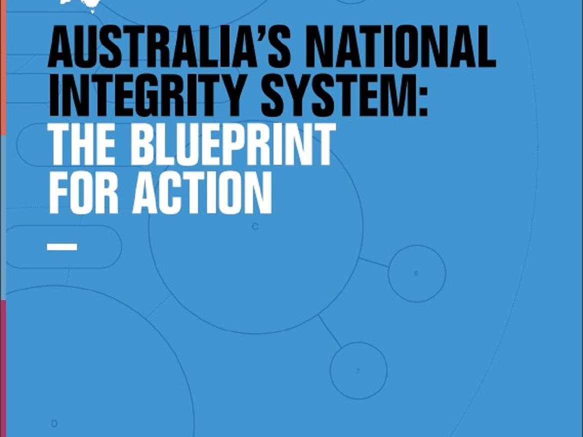Australia's National Integrity System: the Blueprint for Action report cover