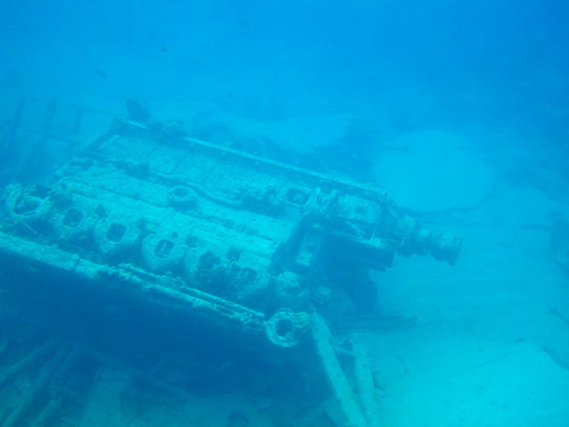 image of a shipwreck under water - links to depression page