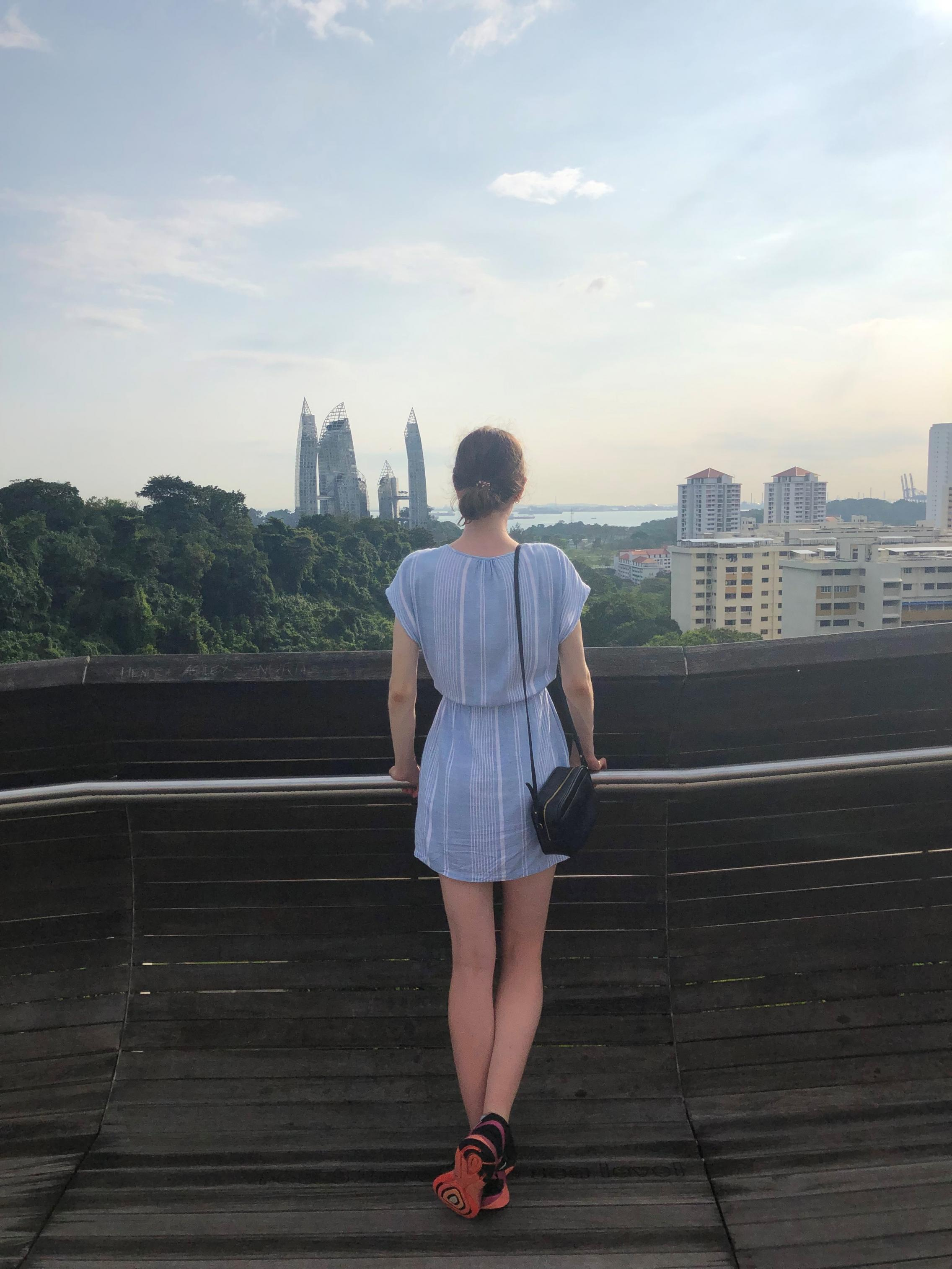 Bridget Smart overlooking Singapore