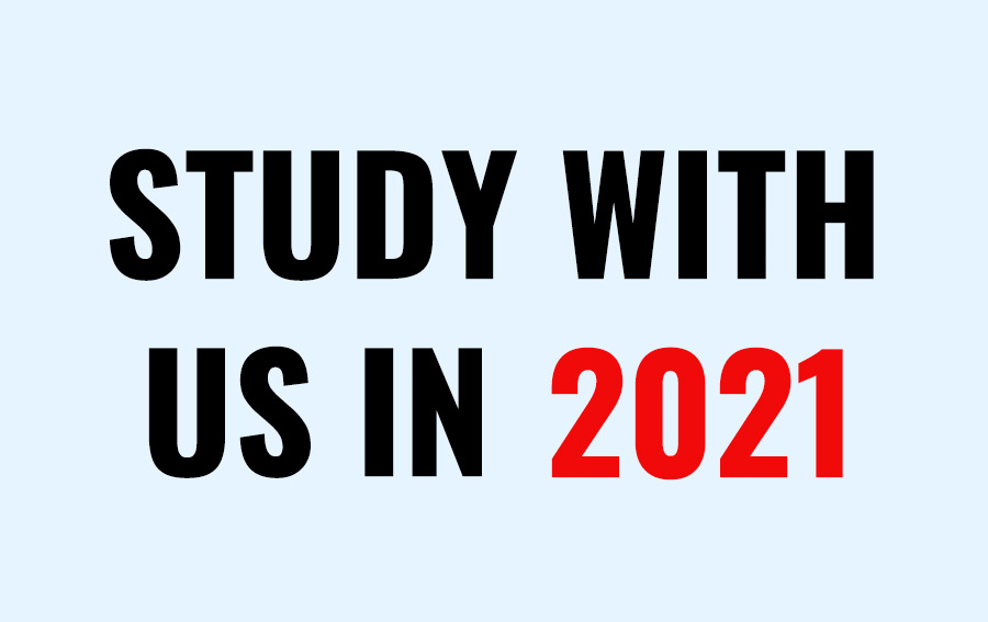 Discover what you can study in 2021