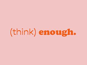 think enough peach pink logo