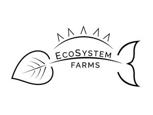 ecosystems farms - fish, sun and leaf logo
